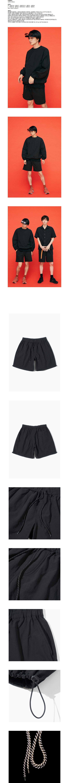 파르티멘토 String Half Pants Black