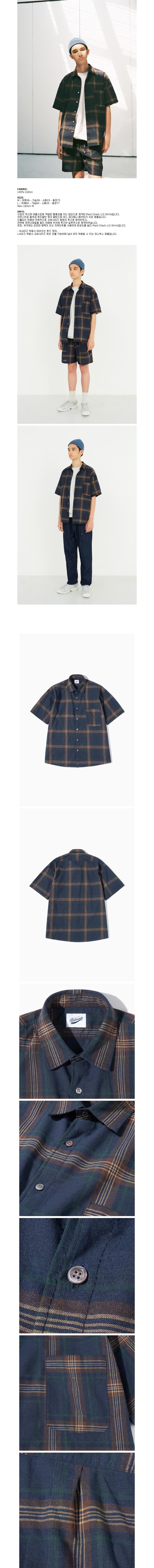 파르티멘토 Plaid Check 1/2 Shirts