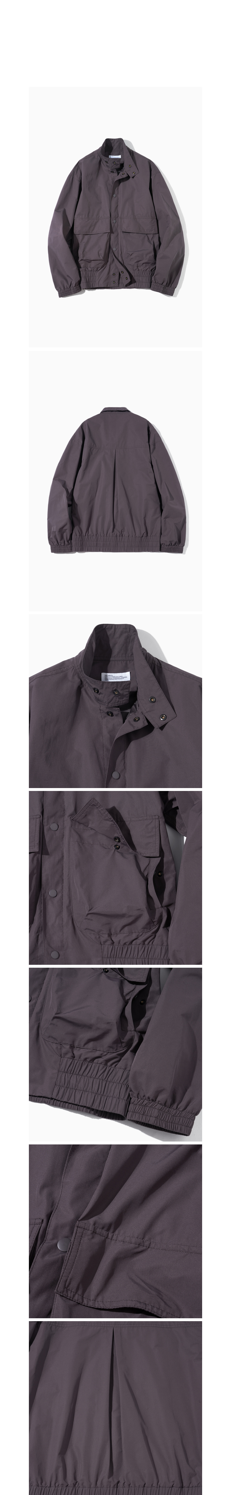 파르티멘토 Shirring Blouson Jacket Dark Purple