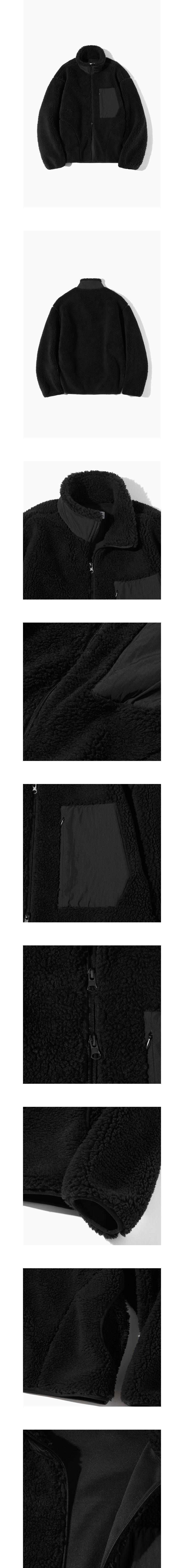 파르티멘토 Boa Fleece Pile Jacket Black