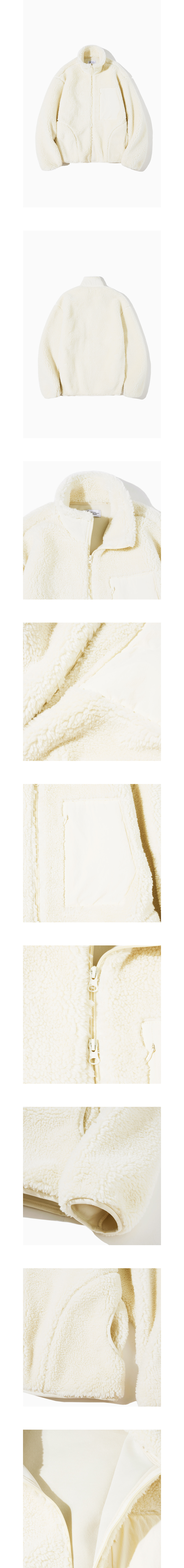 파르티멘토 Boa Fleece Pile Jacket White